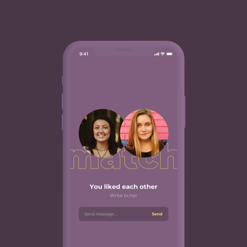 A dating app with GPS functionality, supporting  audio,  video  and  text  interactions